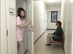 naughty miso girl sucks and kneads dick