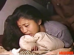 Asian amateur back to anal in her first hardcore fuck