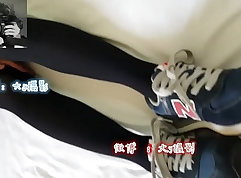 Chinese Casual foot worship and blowjob