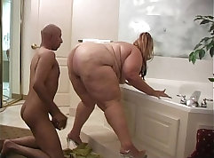 skinny thing with a fat ass is taking a meaty rod up her tight cunt