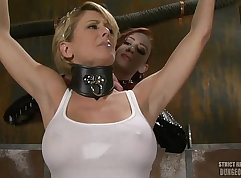 Coed actresses pussy is totally dominated by a thick lascivious girl