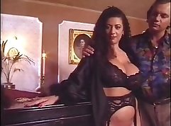 Amazing euro retro boobs tugjob