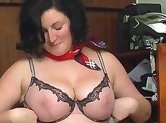 Chubby hairy brunette Sophia Lomeli gets rammed